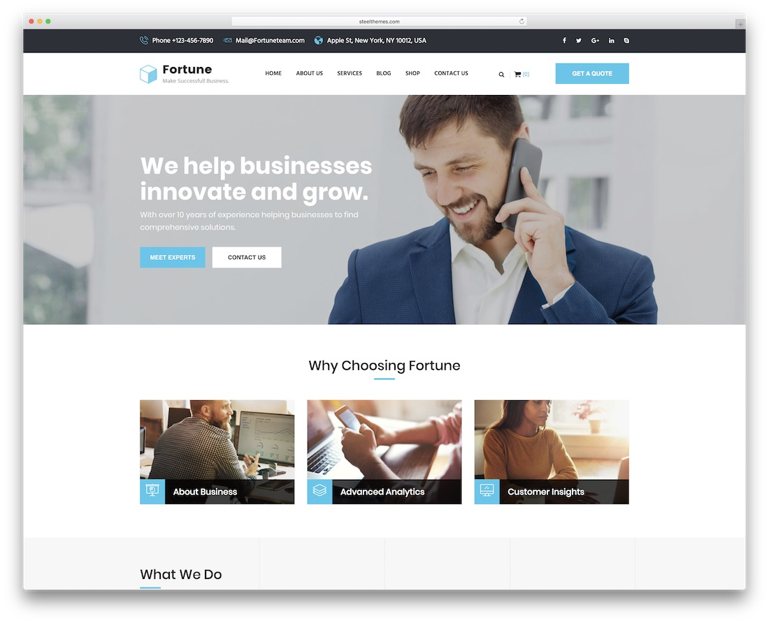 fortune business consulting financial website template