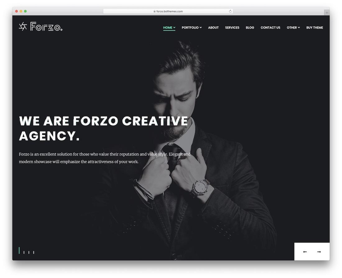 forzo creative agency wordpress theme