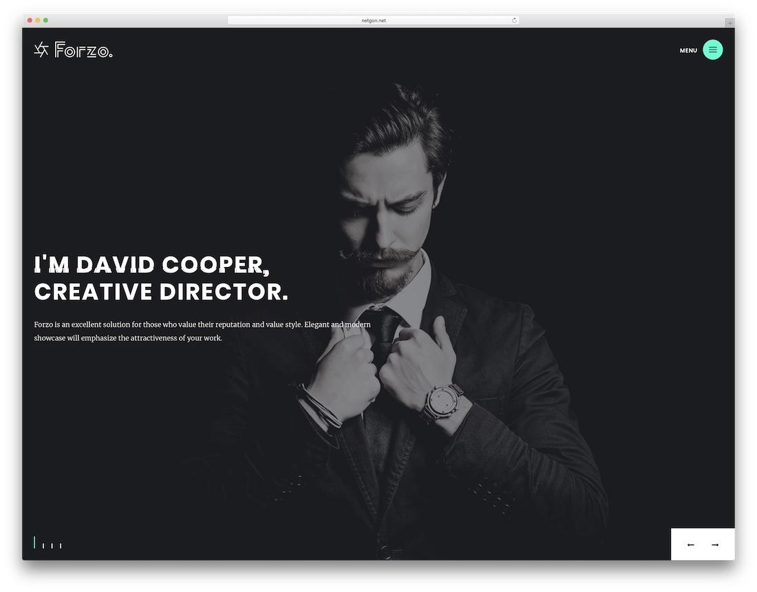 forzo graphic design website template