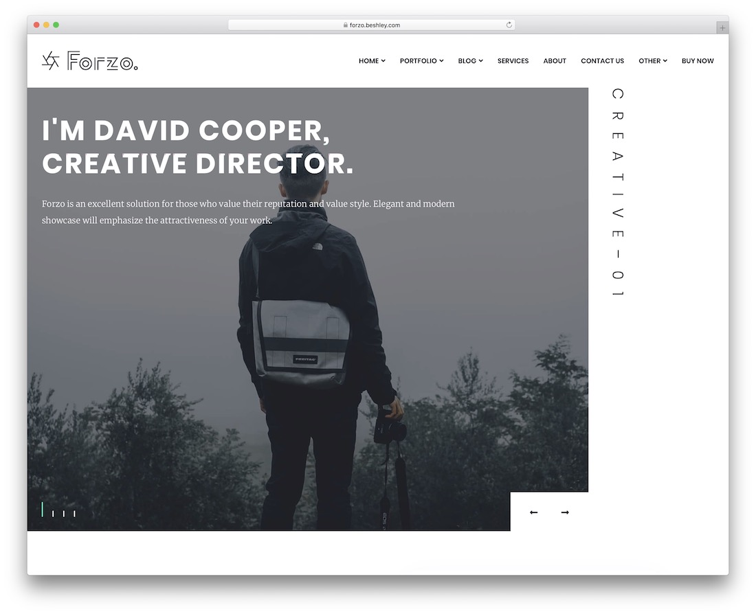 forzo portfolio website template