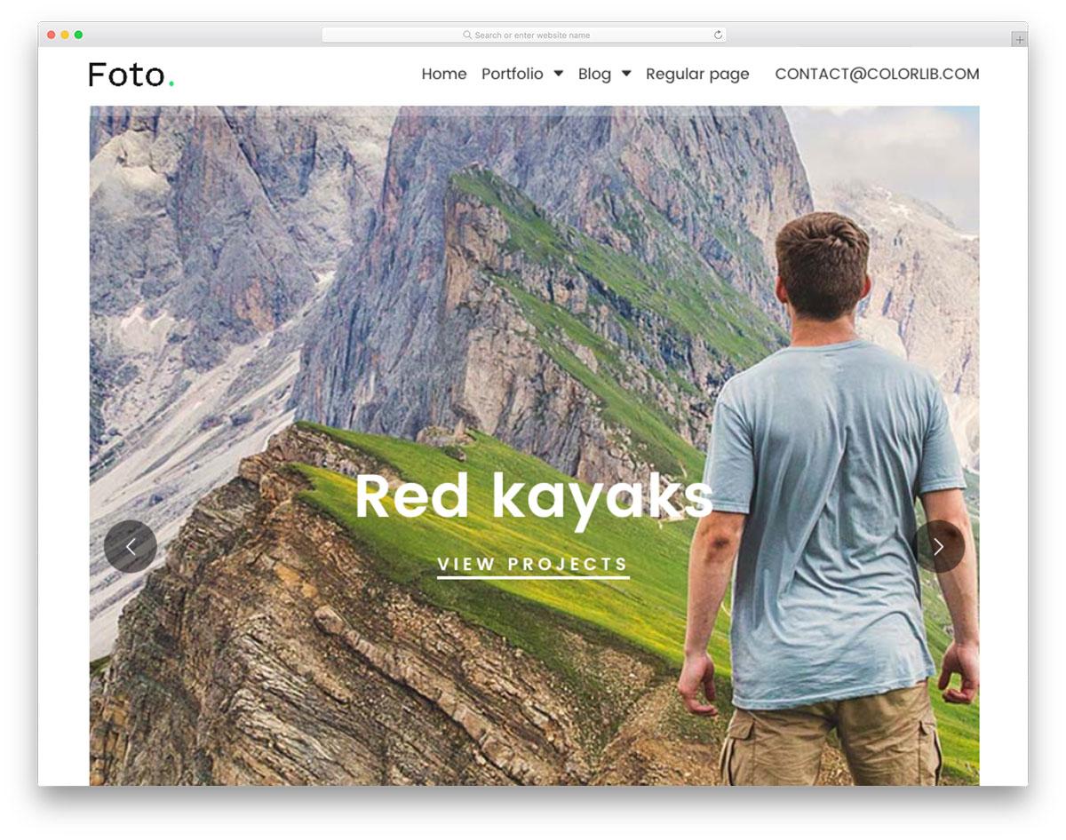 Скачать бесплатно html шаблон Foto