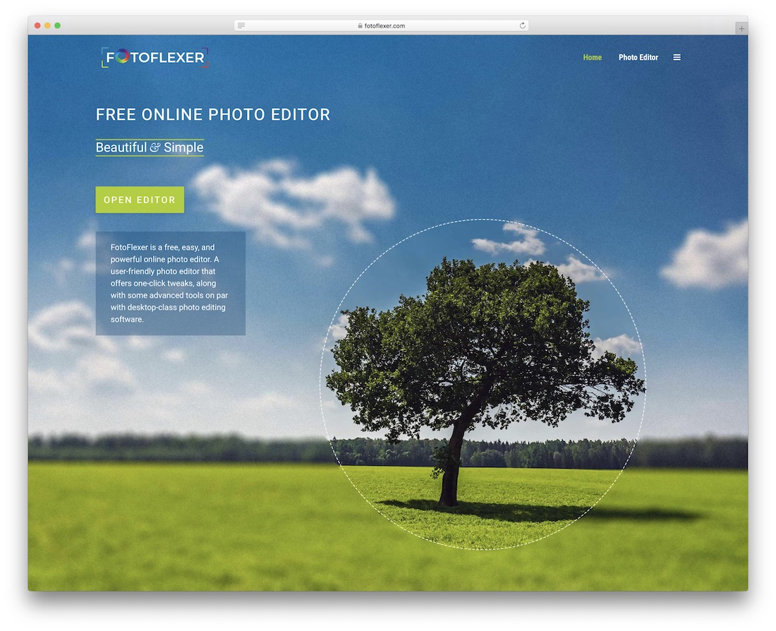 fotoflexer free photoshop alternative