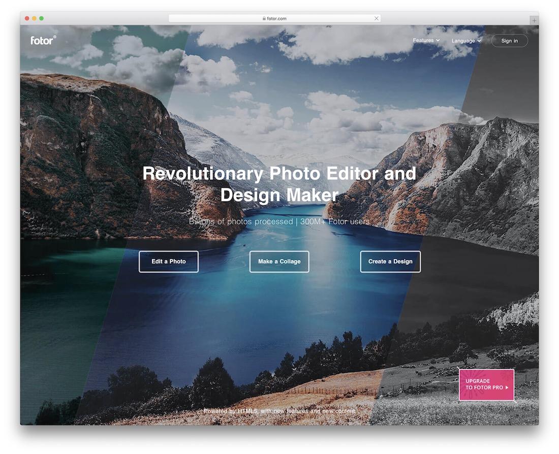 fotor social media photo editor