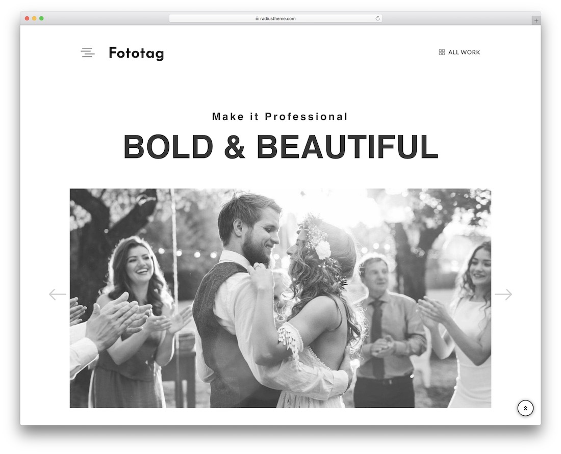 fototag wedding photography wordpress theme