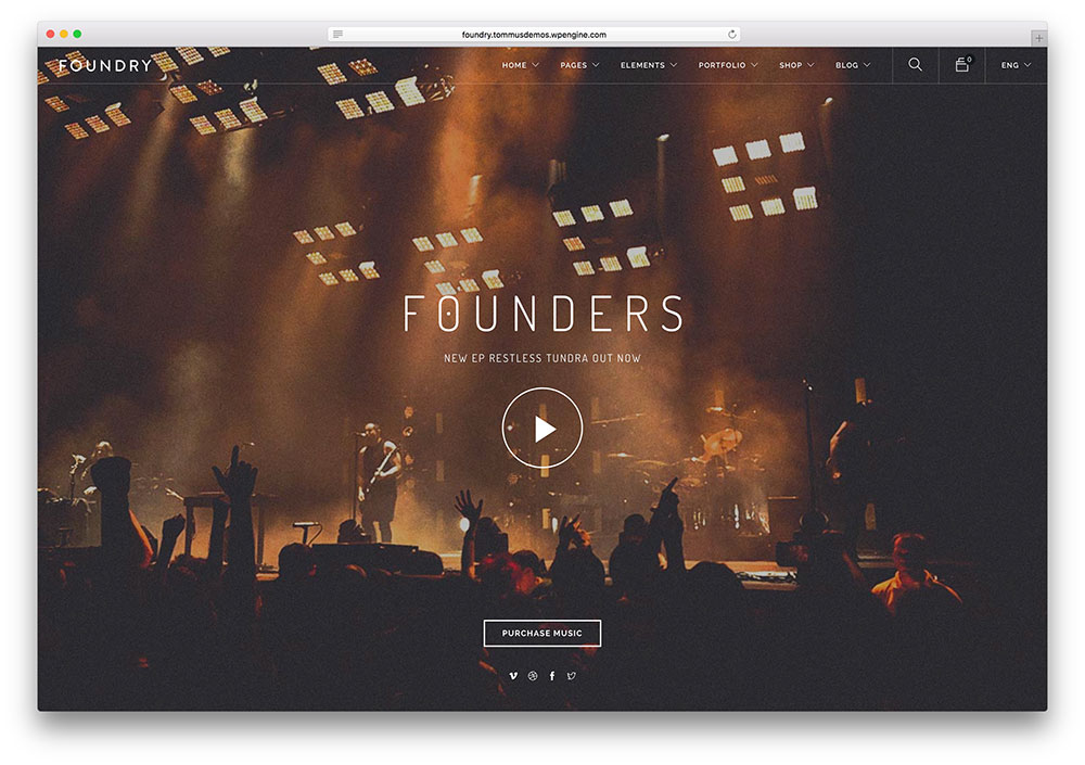 foundry-creative-fullscreen-music-website-template