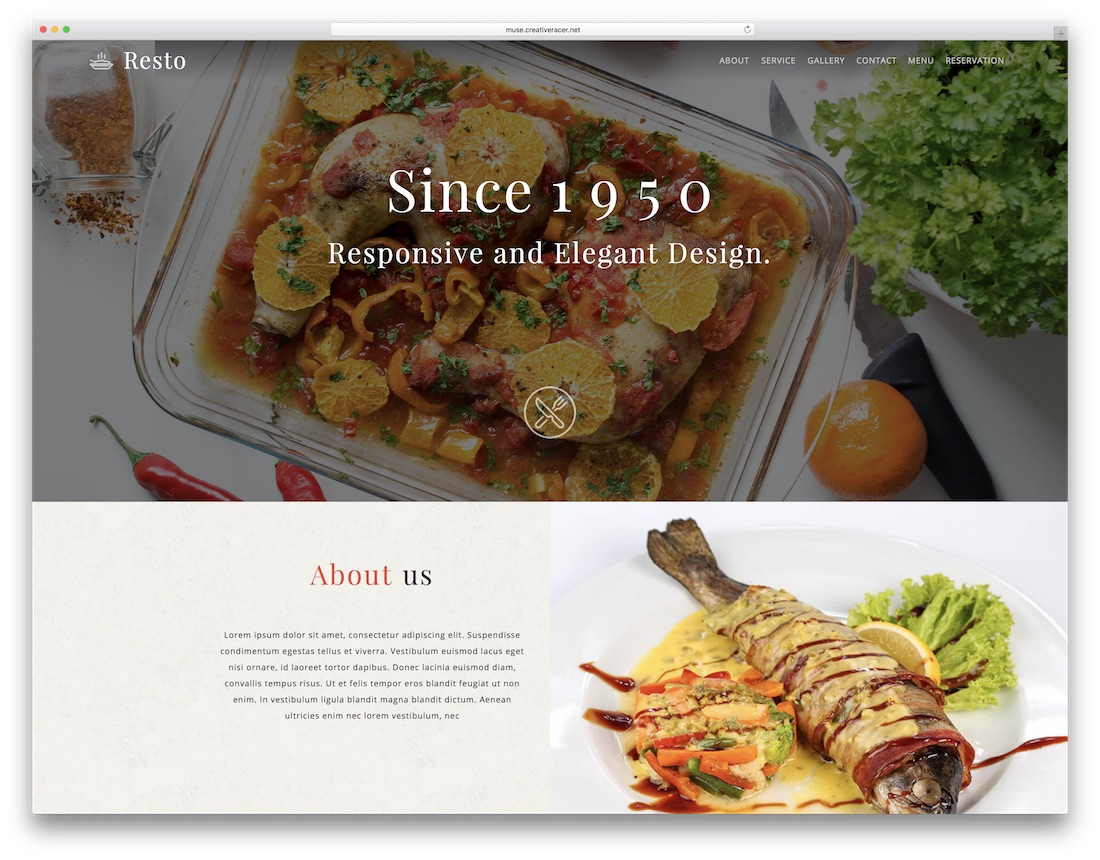 four adobe muse template