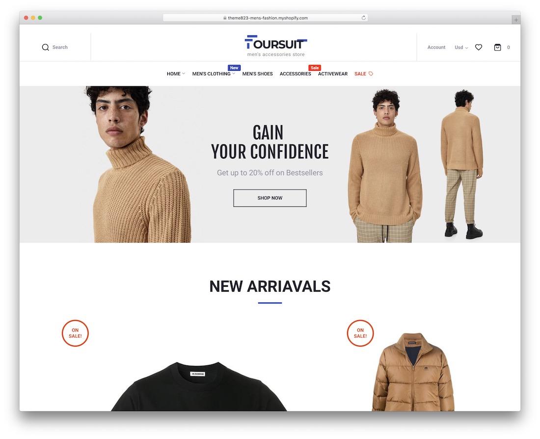 foursuit single product shopify theme