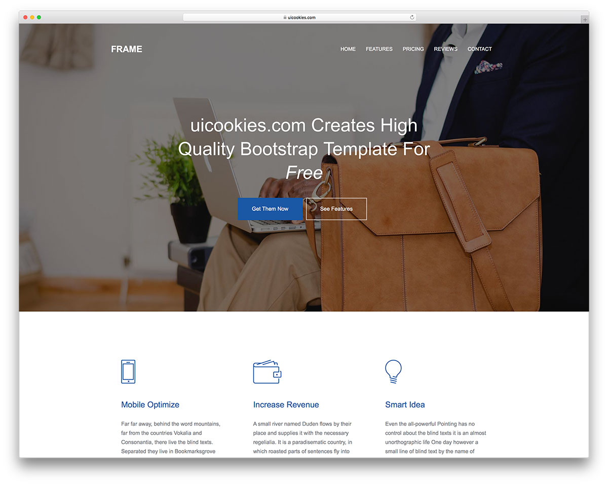 40 free responsive html5 business templates for startups 2018 colorlib when your business involves providing services to others your best choice of a website template is going to be one thats aimed at agencies and service friedricerecipe Image collections