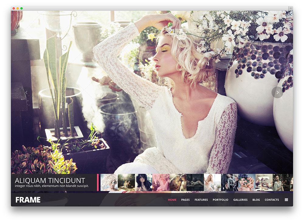 frame - wedding photography theme