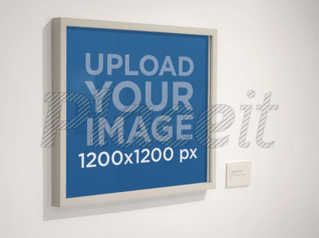 framed square poster mockup