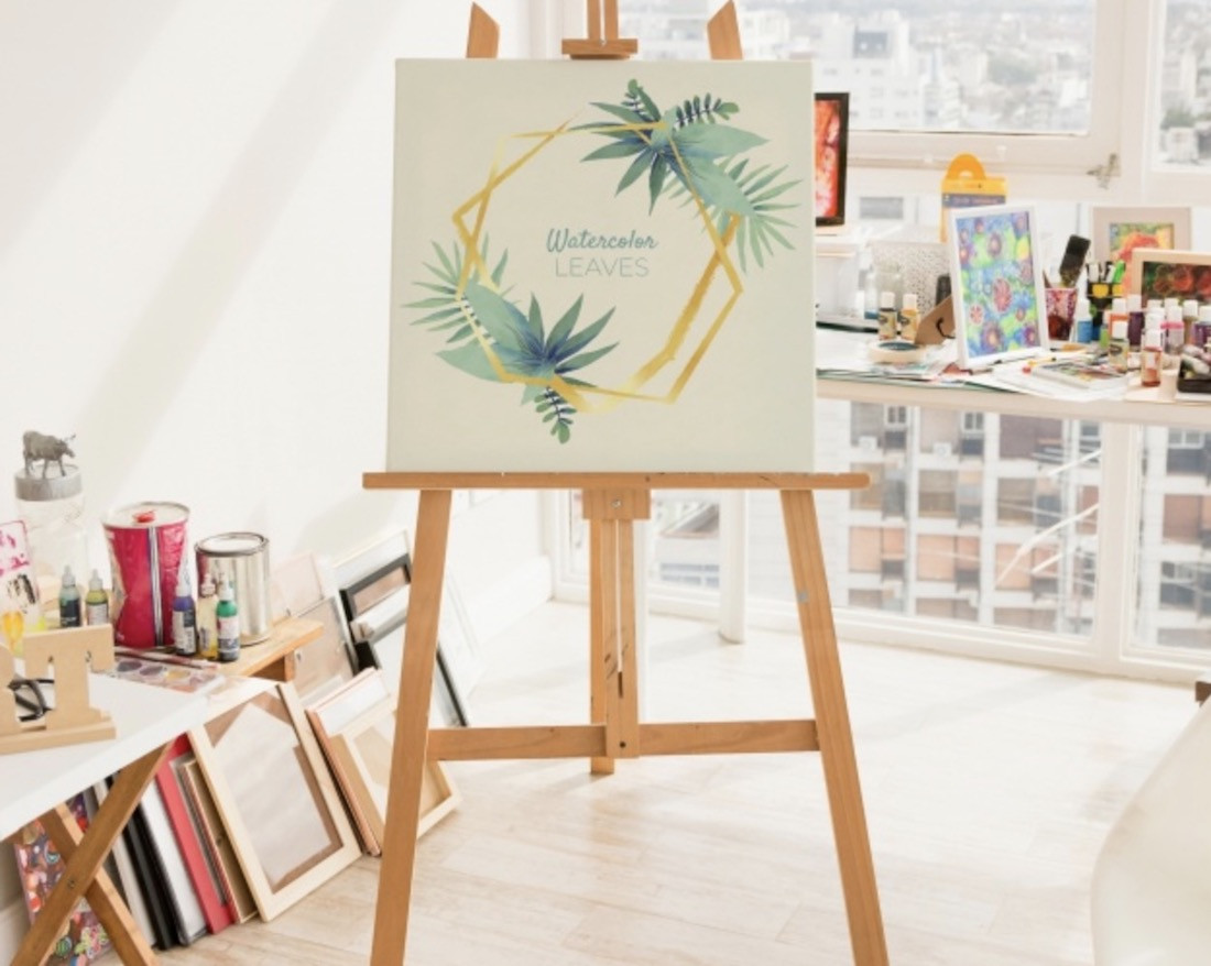 free art canvas scene mockup