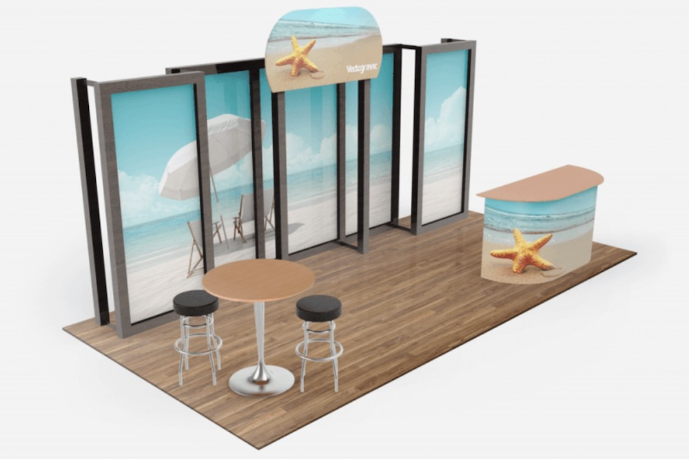 free awesome tradeshow booth mockup