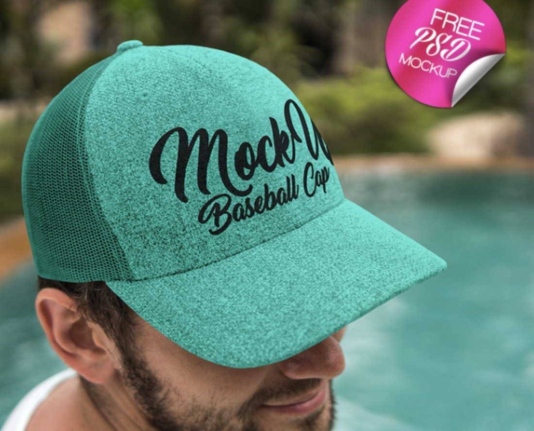 free baseball cap psd mockup