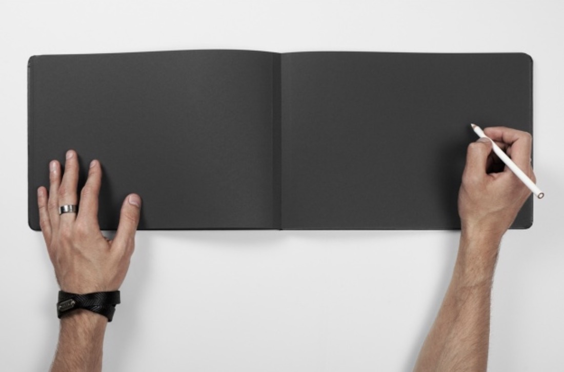 free black page book mockup psd