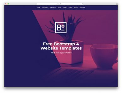 Bootstrap 4 Templates