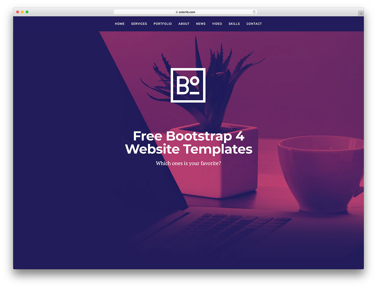 95 Best Free Bootstrap 4 Templates For Portfolio, Business & Landing Pages 2020