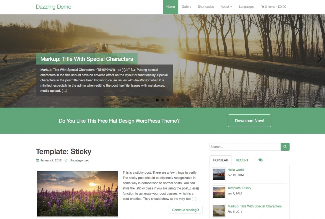 25 Best Free WordPress Themes Built With Bootstrap Framework For Business, Portfolio & Personal Blogs – 2014