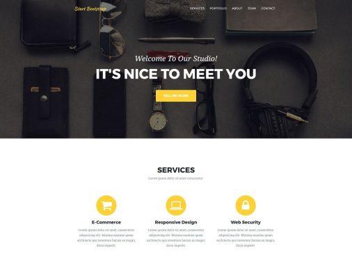 Free Bootstrap 4 Portfolio Website Templates