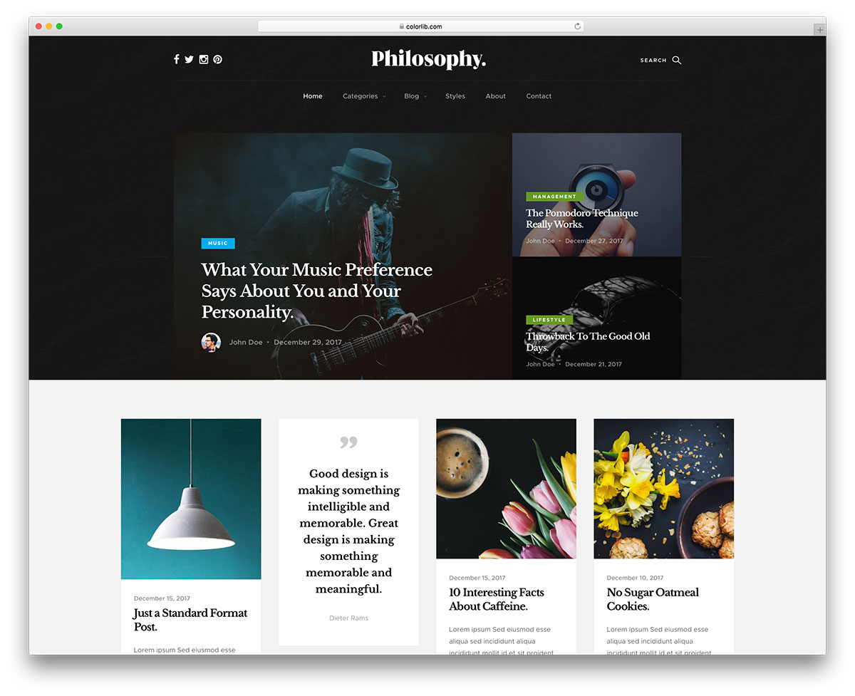 25 best free bootstrap blog templates using html5 css3 2018 colorlib