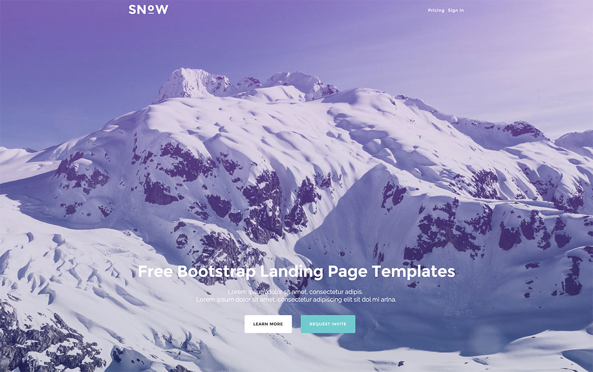 Top 28 Free Landing Pages Templates Built With Bootstrap
