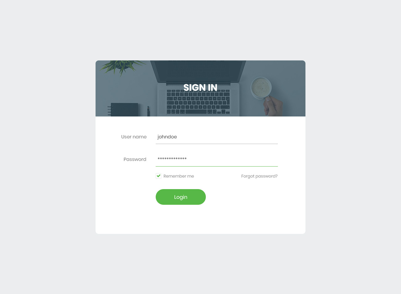 free bootstrap login forms