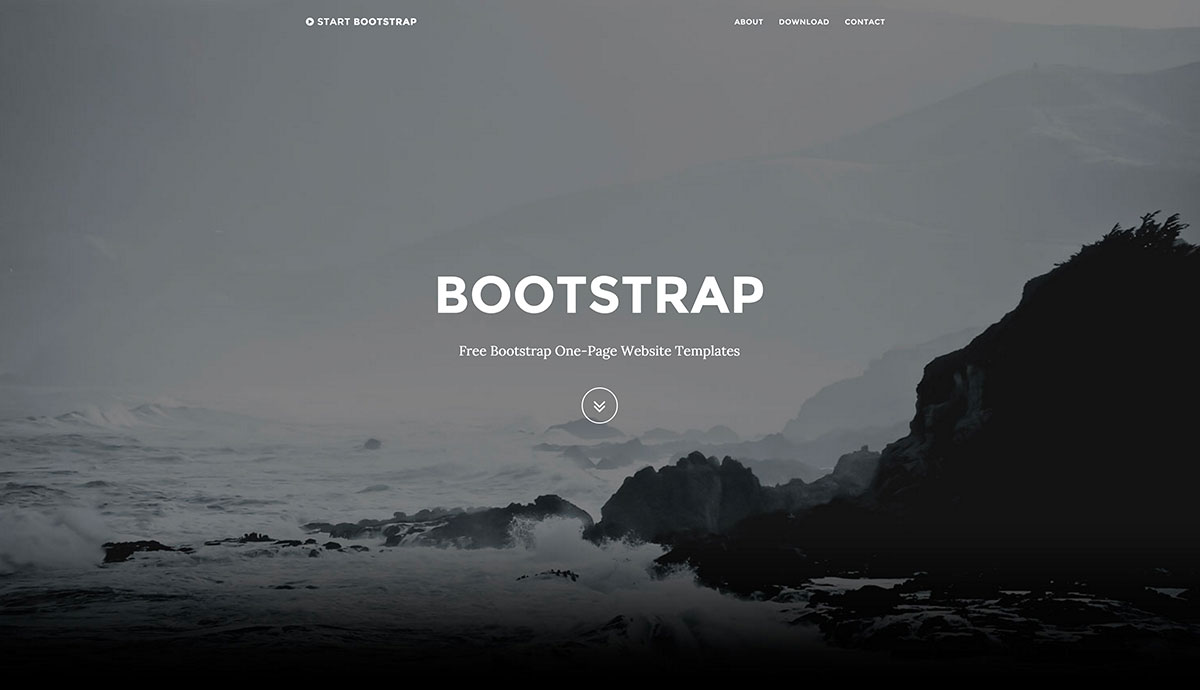Top 28 Free One-Page Website Templates Built With Bootstrap 2017
