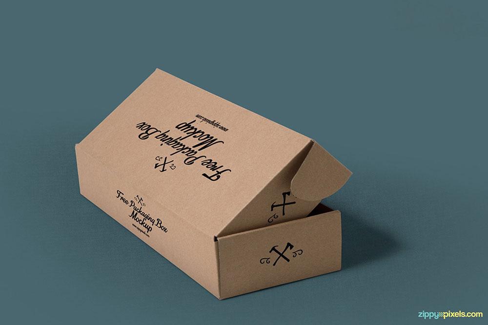 maquette d'emballage de boîte gratuite