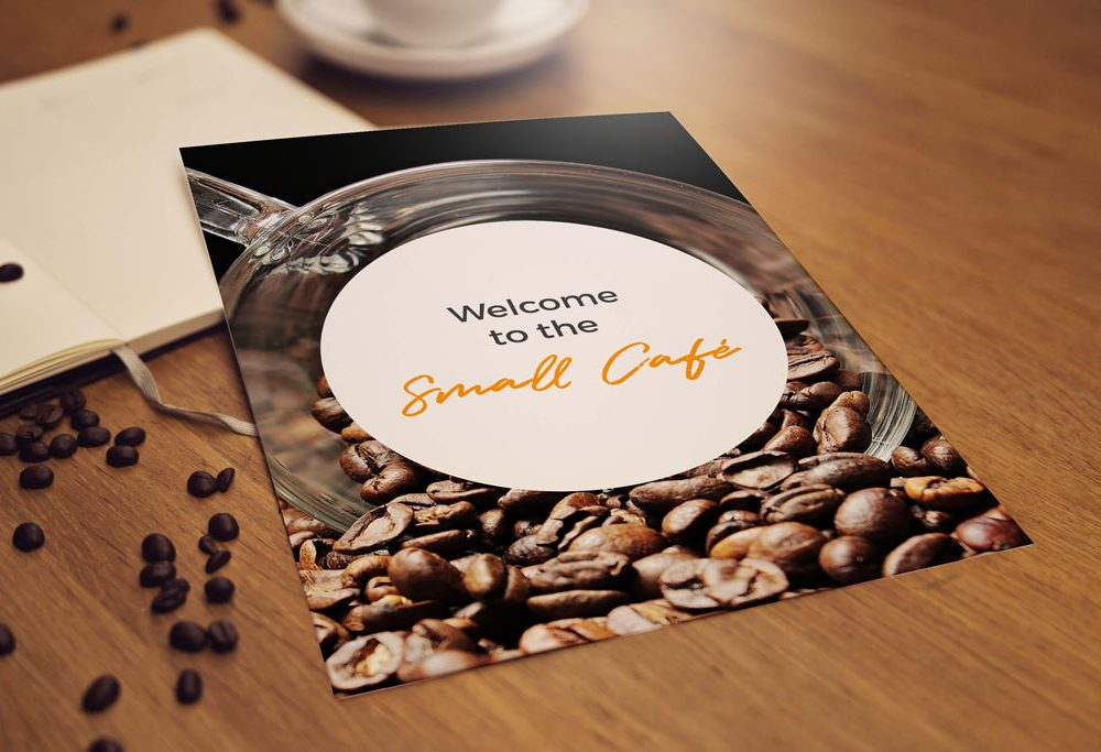 free cafe coffee flyer mockup psd