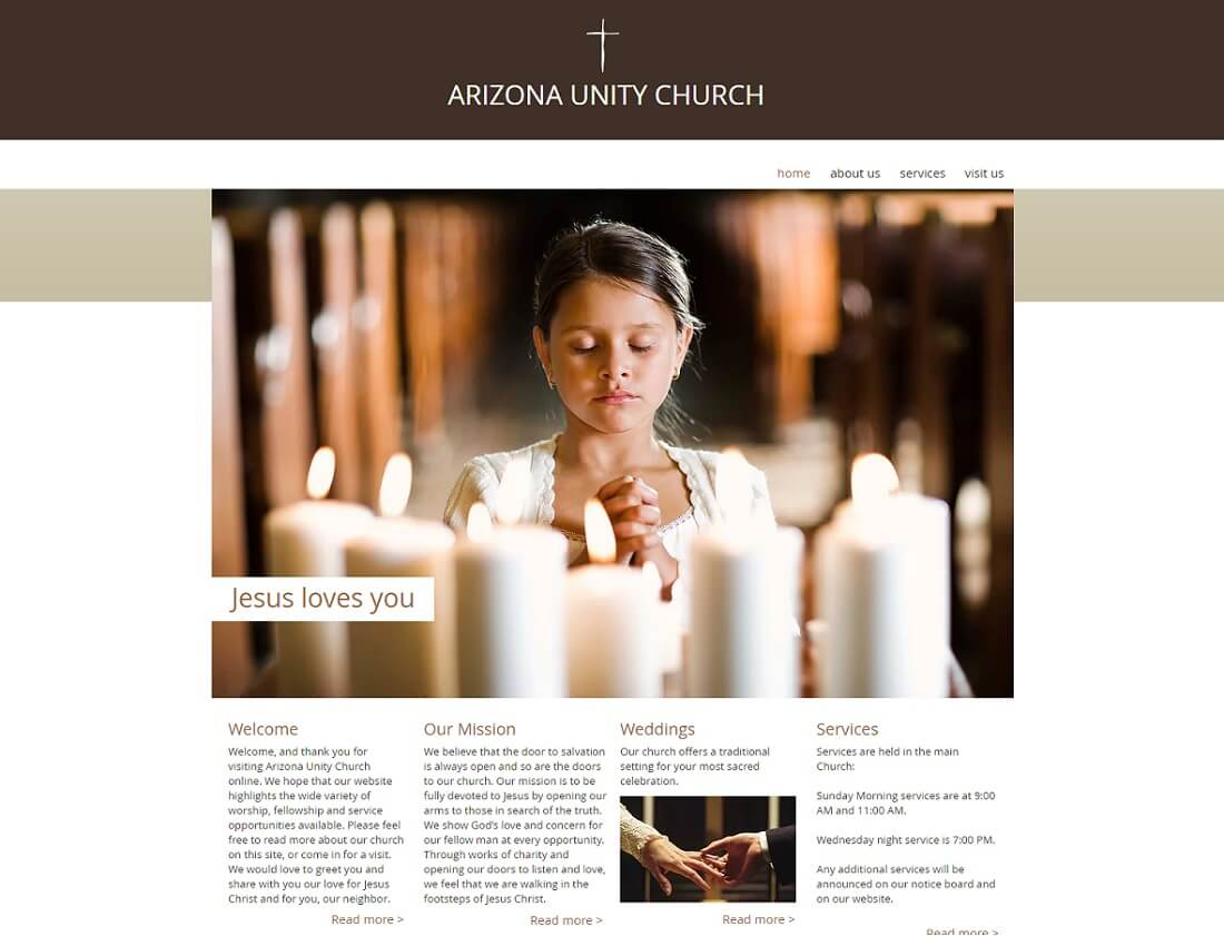 Best Free Church Website Templates Colorlib - Church website templates