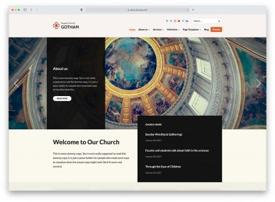 Free Church WordPress Themes