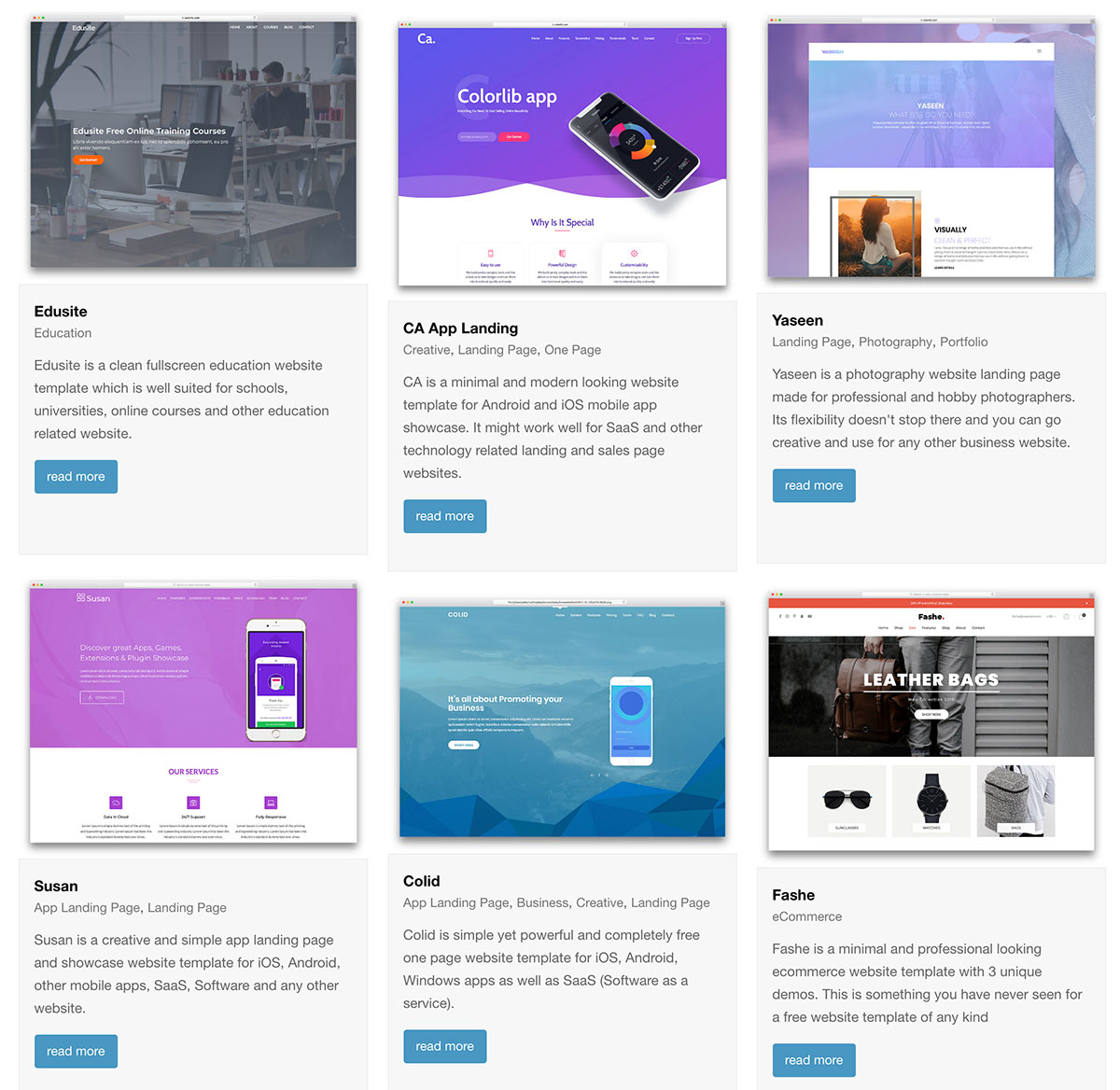 Top 21 Free One Page Website Templates Built With Bootstrap 2018