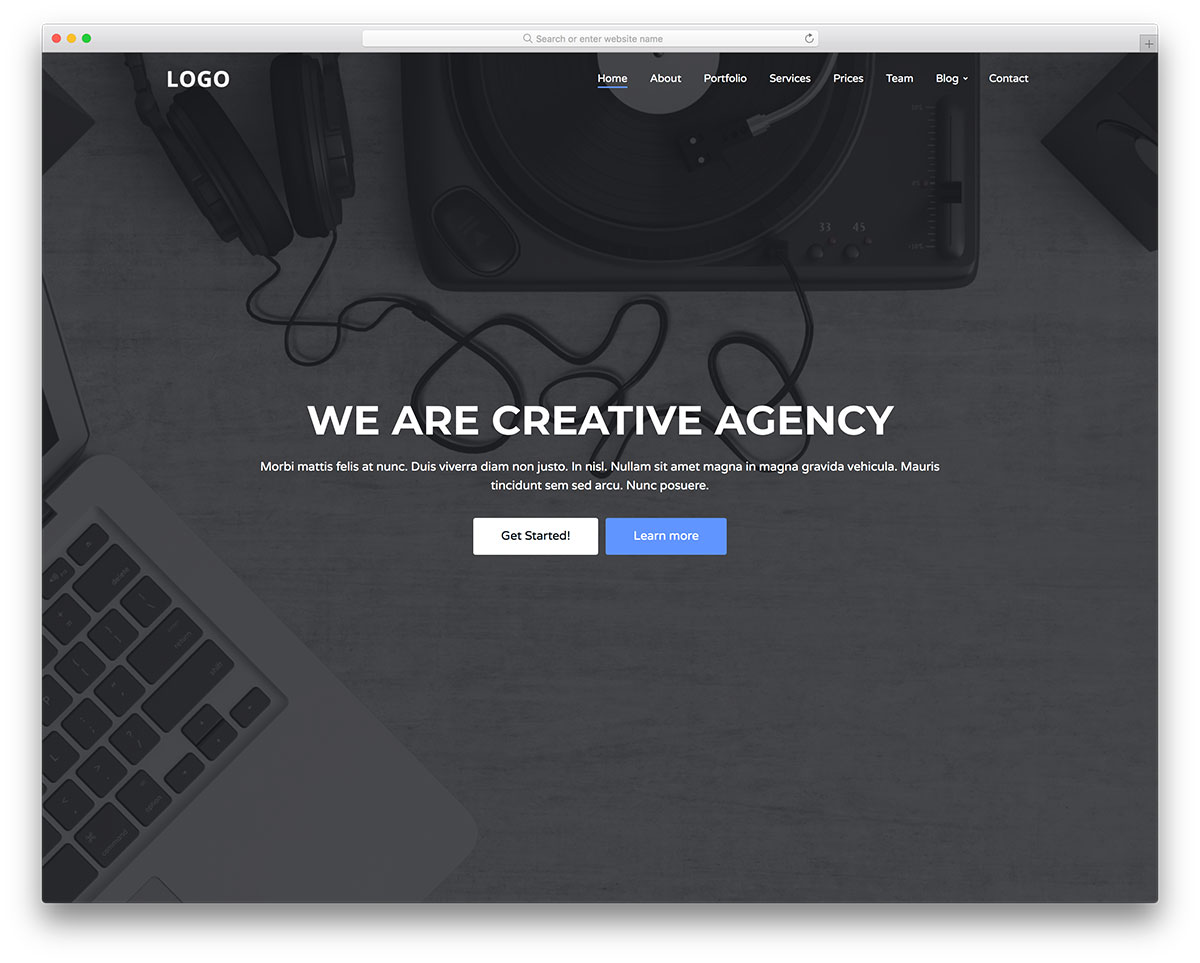 Creative Agency - Free Digital Creative Agency Website Template ...