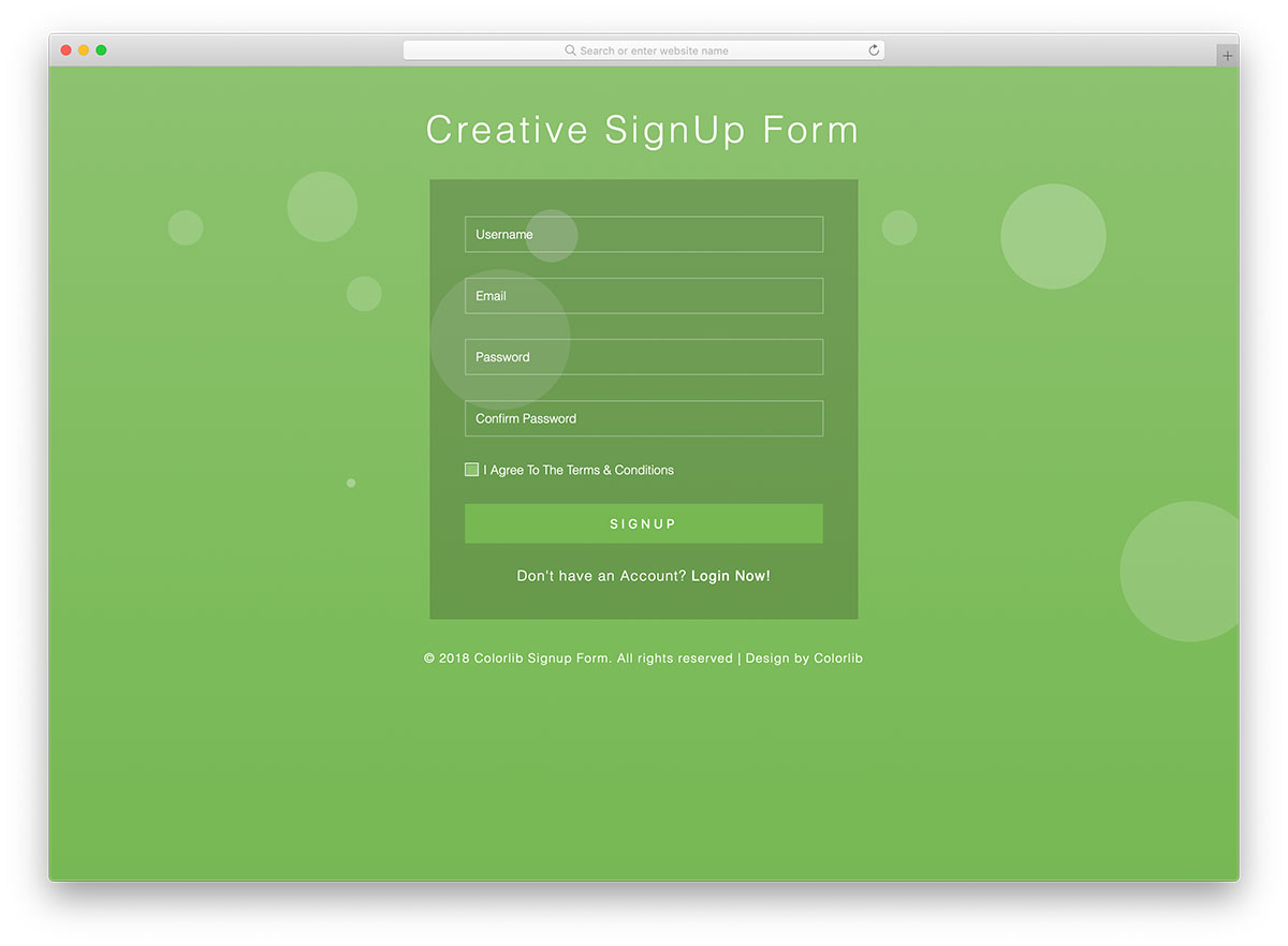 graphic regarding Free Sign Templates named 66 Excellent No cost Bootstrap Registration Sorts For All Websites 2019