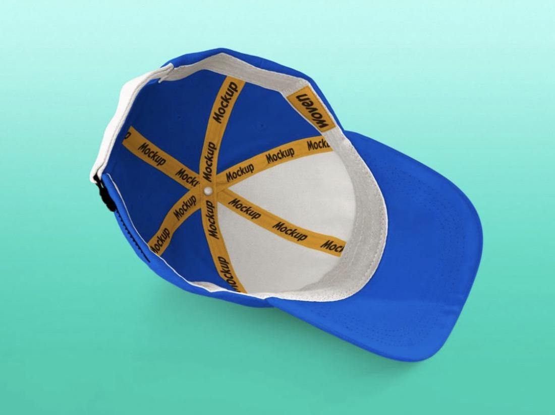 free customizable inside baseball cap mockup