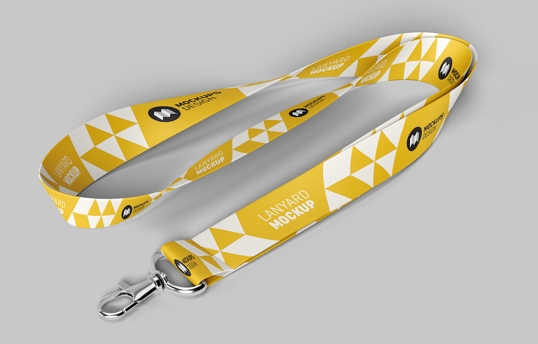 free customizable lanyard mockup