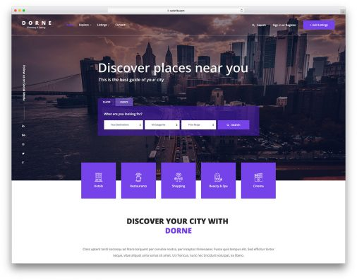 Free Directory Website Template