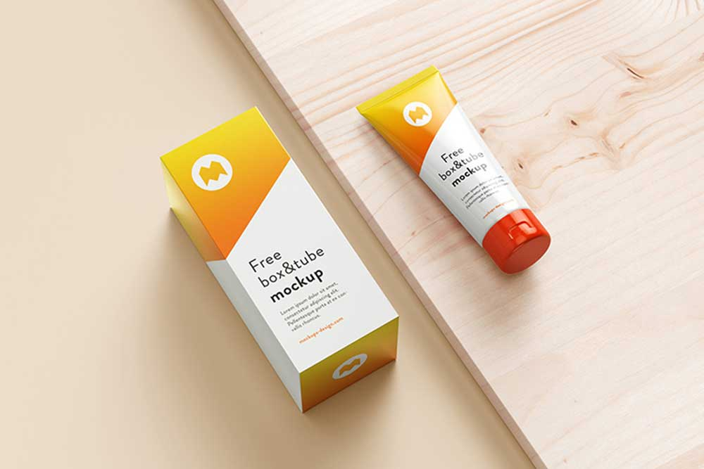 free download cosmetic tube mockup