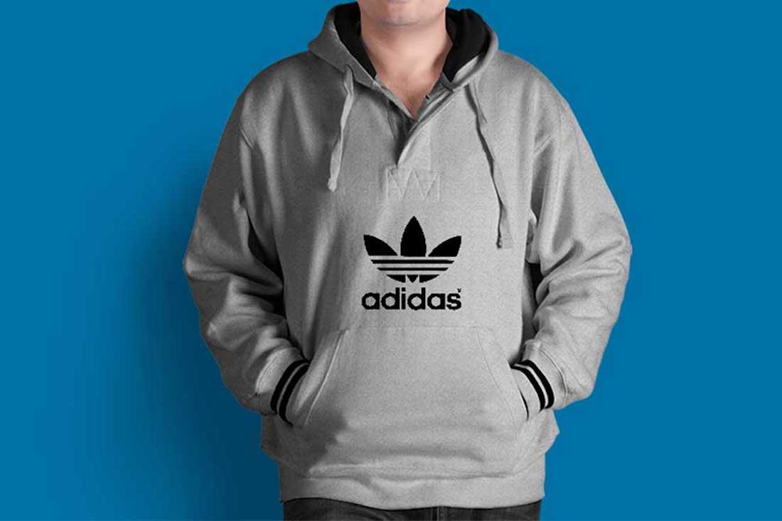 adidas hoodie template