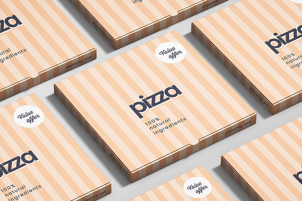 maquette de boîte à pizza téléchargement gratuit