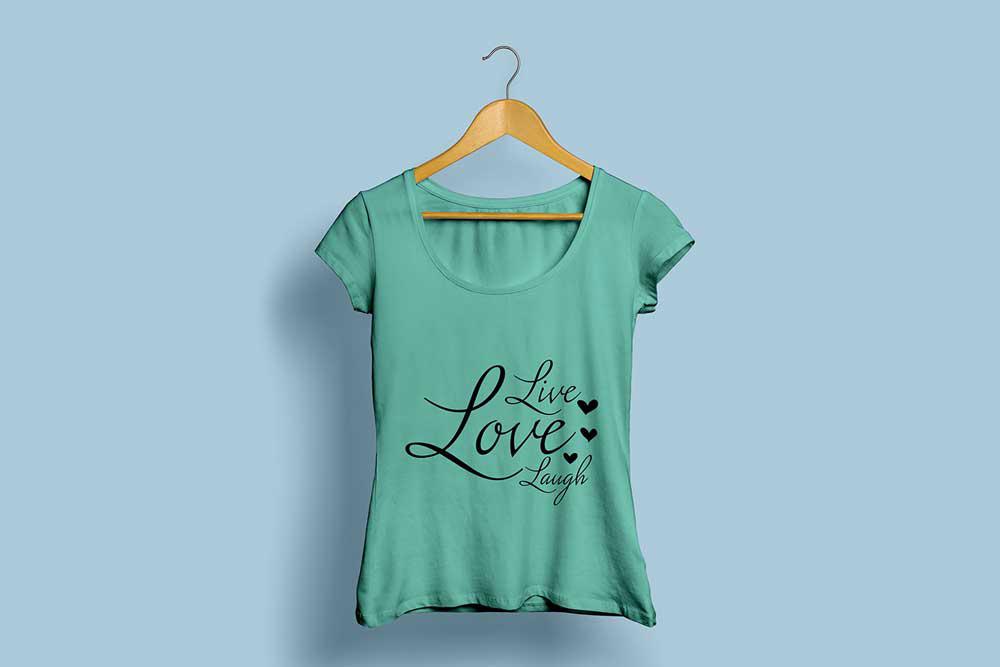 free download woman shirt mockup