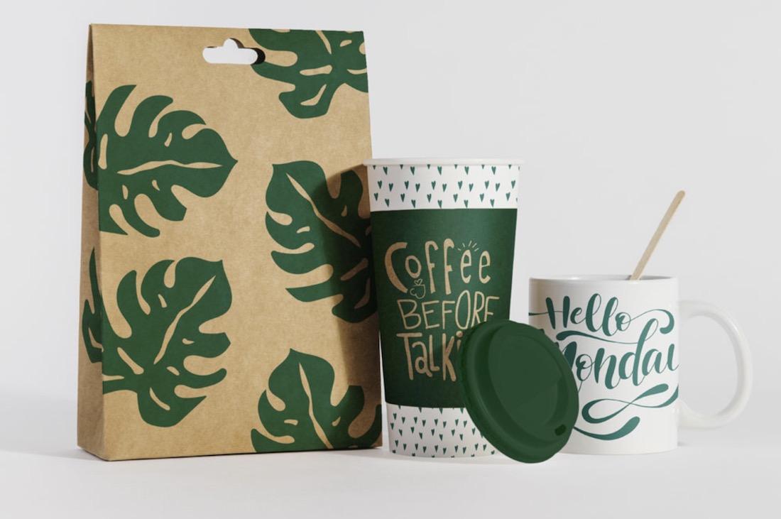free eco coffee mockup
