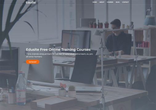 Free Education Website Templates