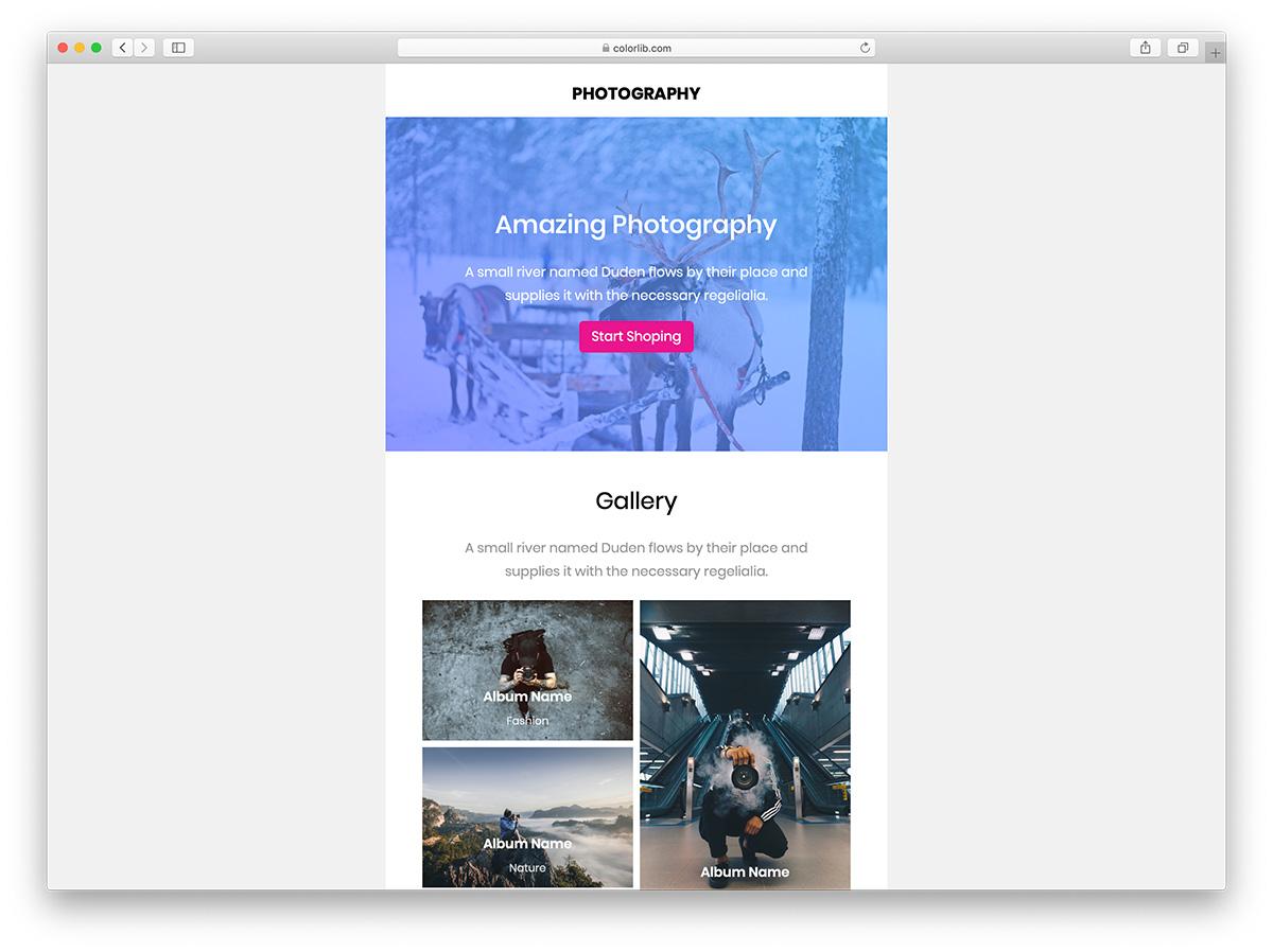 39 free responsive html email templates 2020 colorlib. Black Bedroom Furniture Sets. Home Design Ideas