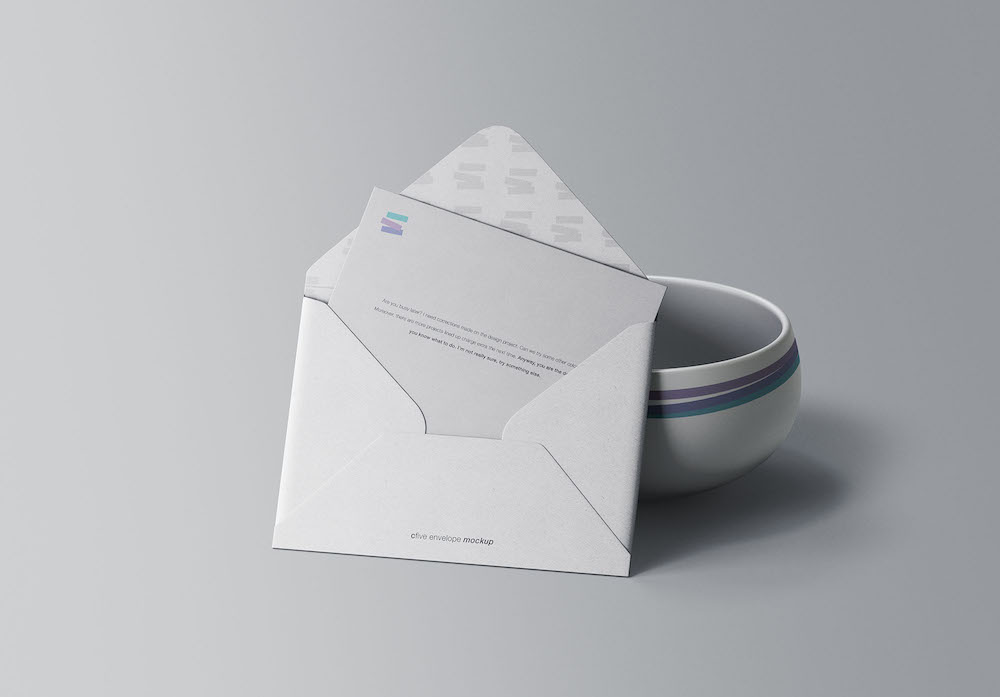 free envelope mockup download