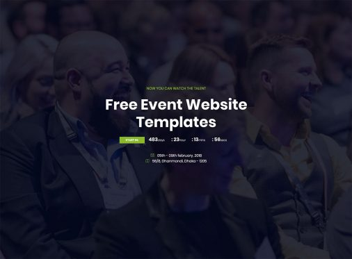 Free Event Website Templates