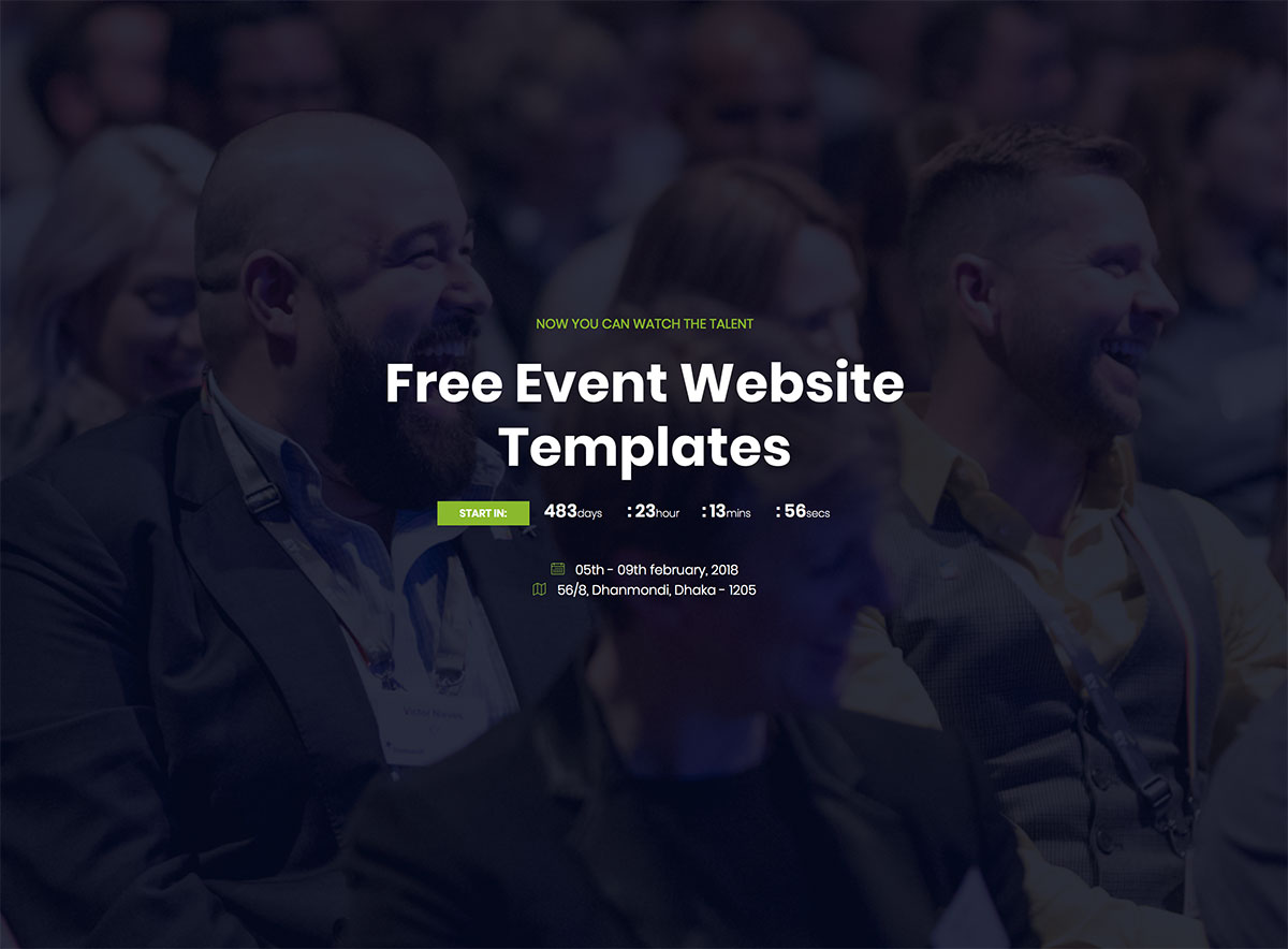 18 Most Promising Free Event Website Templates 2018