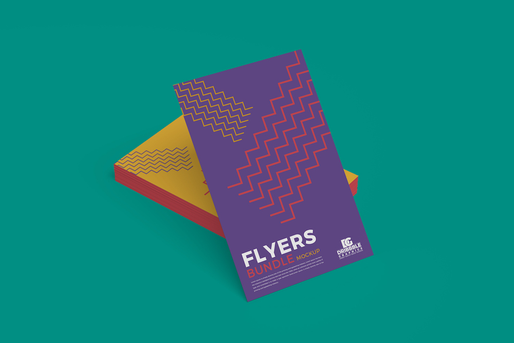 free flyers bundle mockup psd for branding