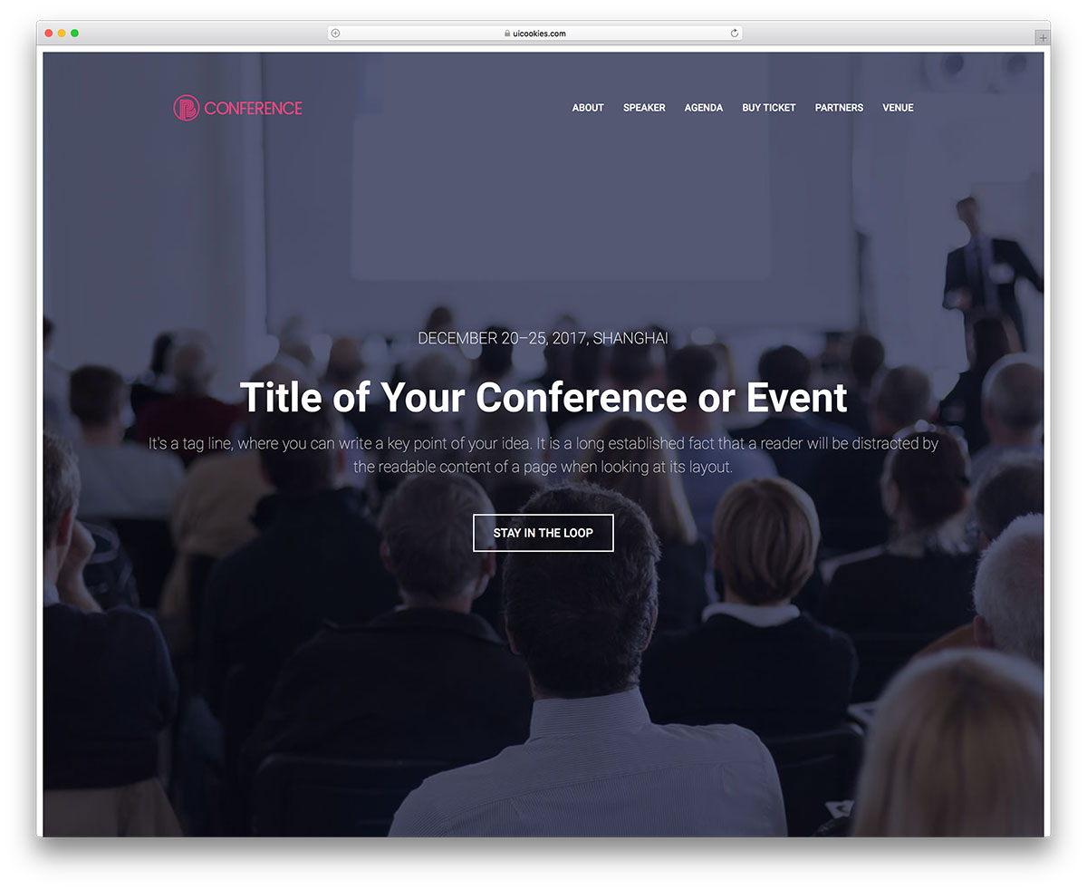 18 most promising free event website templates 2018 colorlib hence the name conference html5 template is a bootstrap event management template ideal for conferences sophisticated and professional template with a flashek Gallery