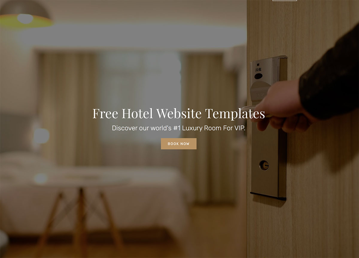 21 Top Free Hotel Website Templates To Attract Millennials Colorlib