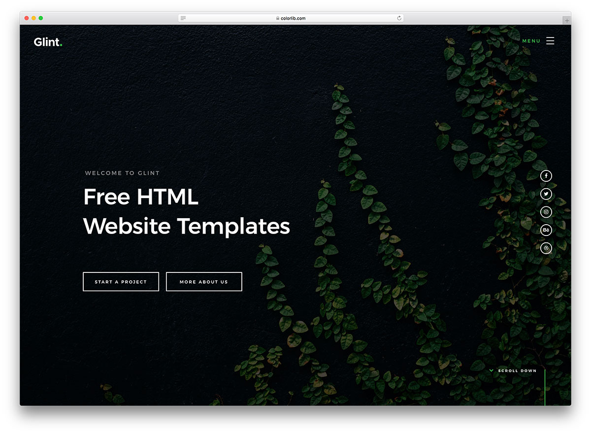 60 responsive free html website templates 2018
